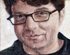Mark Encaustic Portrait by Kara Brook