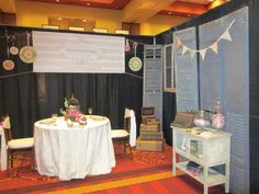 Bridal show booth.  The Pink Bride, September 2011
