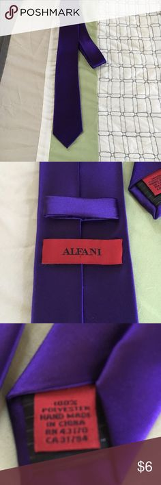 Purple Alfani Tie My husband wore this in a friend's wedding. Beautiful Ctown royal purple. Alfani Other