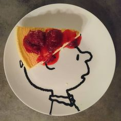 いいね!46件、コメント3件 ― Karina Sayuriさん(@kttrina)のInstagramアカウント: 「Charlie Brown got a Soufflé cheese cake hat with strawberry jam. All made by me…」