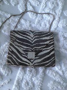 Whiting and Davis Zebra Mesh purse by VintageRevivalDesign on Etsy https://www.etsy.com/listing/213296993/whiting-and-davis-zebra-mesh-purse