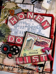 Fun 'Honey Do List' by Kathy Clement using the Typography CD 3 for Crafty Secrets June 2015 Linky Party and DT Challenge