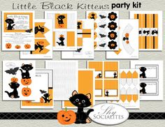 Kitten Party Kit/ DIY Halloween Party/ DIY Kitty by ShySocialites, $15.00