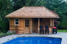 Backyard Pool Houses And Cabanas | Pool Sheds And Cabanas Oakville by Shademaster Landscaping