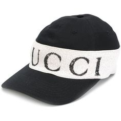 85b34b9fcca Gucci cap with logo headband ( 440) ❤ liked on Polyvore featuring men s  fashion
