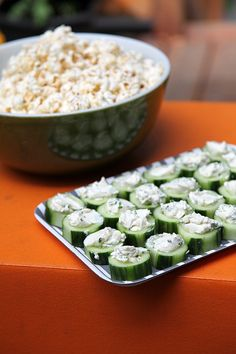 Last night we had our first barbeque of the season, and I made one of my favorite summer appetizers, cream cheese and chive cucumber. Appetizer Salads, Finger Food Appetizers, Healthy Appetizers, Healthy Snacks, Summer Snacks, Summer Recipes, Mouth Watering Food, Tiny Food, Clean Eating Snacks