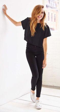 #summer #fashion / all-black everything