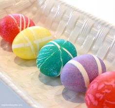 Bright Colored Rubber Bands | Coloring Easter Eggs: A Dozen Ways to Color a Dozen Eggs - Kenarry.com