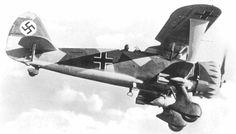 Centre For Aviation: Henschel Hs 123 single-seat biplane dive bomber...