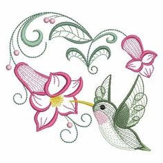 Ace Points Embroidery Design: Rippled Hummingbirds 3 inches H x inches W Embroidery Flowers Pattern, Embroidery Patterns Free, Custom Embroidery, Embroidery Files, Embroidery Applique, Embroidery Stitches, Quilting Stencils, Machine Embroidery Projects, Quilling Patterns