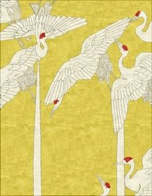 Robin Gray Design // Cranes from the Kimono Collection Textile Texture, Textile Fabrics, Textile Patterns, Textile Design, Print Patterns, Of Wallpaper, Chinese Wallpaper, Fabric Art, Soft Furnishings