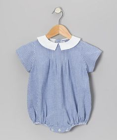 Take a look at this Royal Gingham Seersucker Bubble Bodysuit - Infant by SIMI on #zulily today!