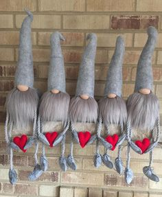 LISTING: IS FOR ONE - Handmade Gnomes with Arms and Legs Engraved. The Gnome is approx. With Legs that hang approx. Christmas Fair Ideas, All Things Christmas, Christmas Crafts, Christmas Ornaments, Christmas Knomes, Gnome 4, Dammit Doll, Gnome Ornaments, Scandinavian Gnomes