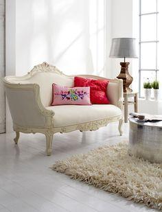 French Décor ● Vintage Baroque sofa