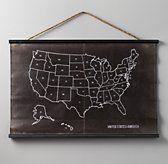 USA Chalkboard Map   Pinboards & Chalkboards   Restoration Hardware Baby & Child