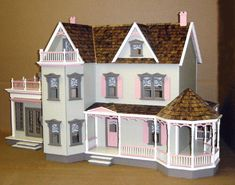 Real Good Toys Harborside Mansion Dollhouse Kit - 1 Inch Scale - Collector Dollhouse Kits at Hayneedle Best Doll House, Dolls House Shop, Mini Doll House, Barbie Doll House, Wooden Dollhouse Kits, Diy Dollhouse, Dollhouse Miniatures, Victorian Dolls, Victorian Dollhouse