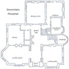 Millikin Homestead floorplan