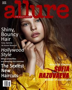 Sofia Razuvaeva on Allure Magazine cover