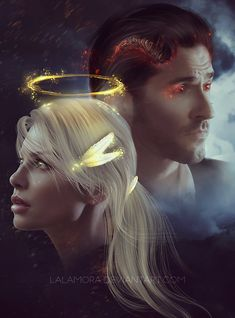 Lucifer and Chloe by LaLaMora.deviantart.com on @DeviantArt