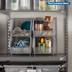 When you want an organization solution that's efficient and functional, our Mesh Stacking Bins fit the bill. The steel mesh provides durability while making it easy to see what's stored. Stack several bins to round up toys, craft supplies or garage essentials. Stacking Bins, Steel Mesh, Container Store, Garage Organization, Storage Bins, Craft Supplies, Essentials, Toys, Fit