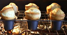 Vintage popovers recipe from 1900's recipe box