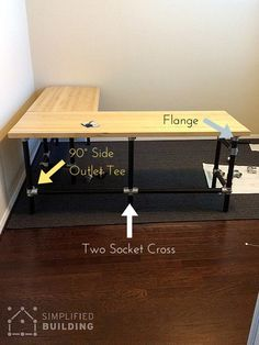 DIY Butcher Block Desk http://www.simplifiedbuilding.com/blog/diy-butcher-block-desk/ #DIY #butcherblock #pipedesk