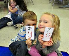 This is a great sight word practice game for K-1 students. (Blog post from Kindergarten: Holding Hands and Sticking Together)