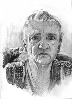 Portrait of grandmother, pencil on paper,29,7x42, 2015 http://agatakaszuba.blogspot.com/