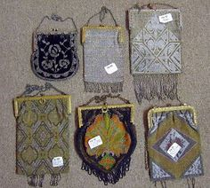 collection of vintage French beaded evening bags on e-bay $900
