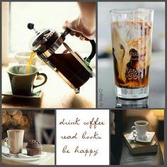 """Drink coffee, read books, be happy"" Moodboard Coffee Love, Coffee Art, Coffee Break, Coffee Cups, Morning Coffee, Coffee Reading, Night Aesthetic, Tea Art, Good Morning Good Night"