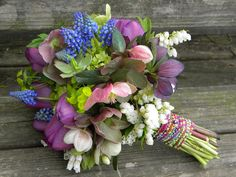 Wedding Flowers from Springwell: Bouquets in Jewel Tones