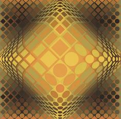 Dell-Yell - Victor Vasarely | Wikioo - The Encyclopedia of Fine Arts