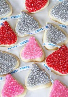 Glittery good Kiss Cookies are a fun & festive treat!
