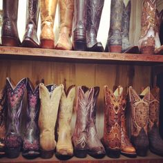 Cowboy boots in Carmel<--I want to go to here.