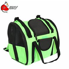 Visky Pet Carrier 2 in 1 Hang Bag Softsided Travel Backpack for Cats and Puppy  Green >>> You can find out more details at the link of the image.-It is an affiliate link to Amazon. #DogCarrierTravel
