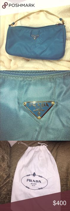 PRADA Milano dal 1913, small turquoise handbag PRADA Milano dal 1913, turquoise handbag in perfect condition and great color. Like new, never used and still in original bag. Great for small accessories and easy to dress up or down. Prada Bags Mini Bags