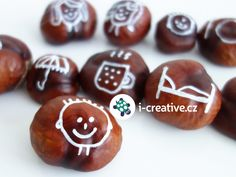 obrazkove-kastany-vypraveni-pribehu Conkers Craft, Diy And Crafts, Kindergarten, Projects To Try, Fall, Creative, Tips, Ideas, Natural Materials