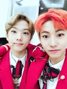 Aww look at my babies I feel like a mom but Jisung (left) is a year older than me