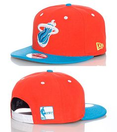 NEW ERA NBA Miami Heat snapback cap Adjustable strap on back of hat for  ultimate comfort Embroidered. 75ff0bb2009