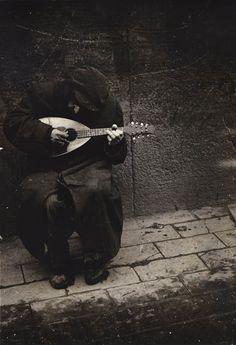 J. Bertolino Man Playing Mandolin, 1950s