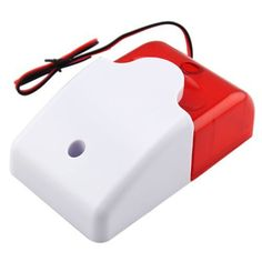 Mini Wired Strobe Siren Durable 12V Wired Sound Alarm Strobe Flashing Red Light Sound Siren Home Security Alarm System #Affiliate