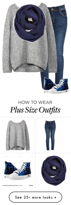 """Grey Sweater, navy scarf. -Grace"" by isongirls on Polyvore featuring BP. and Disney"