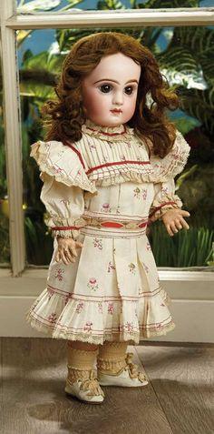 Sanctuary: A Marquis Cataloged Auction of Antique Dolls - March 19, 2016: Petite French Bisque Bebe Jumeau in Factory-Original Jumeau Dress