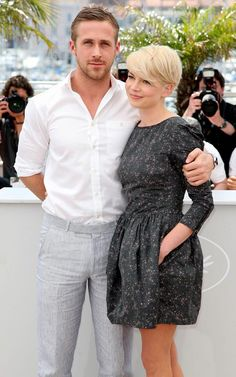 Ryan Gosling, Michelle Williams at a 'Blue Valentine' press shoot, Cannes 2010.