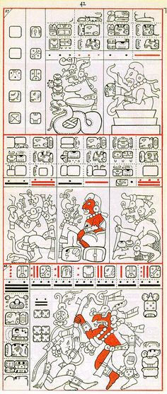 Gates drawing of Dresden Codex Page 42
