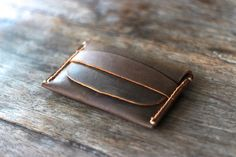 Mens Leather Card Wallet - Gift Ideas for Him - Groomsmen Gifts -- Simple Distressed Leather Wallets - 014