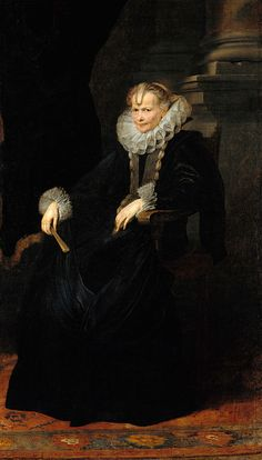 Portrait of a lady, circa 1620 by Sir Anthony van Dyck (Flemish, 1599-1641)
