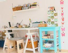 Ideias interessantes usando o cavalete como objeto de decoração.