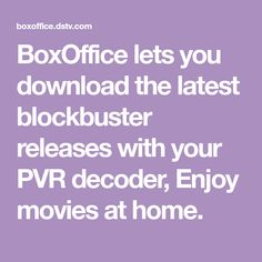 BoxOffice lets you download the latest blockbuster releases with your PVR decoder, Enjoy movies at home. Let It Be, Music, Movies, Free, Musica, Musik, Films, Muziek, Cinema