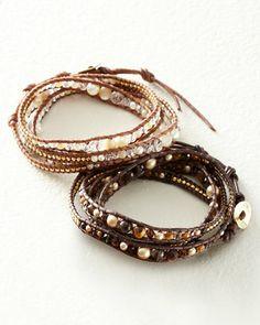 Chan Luu for Garnet Hill Crystal Wrap Bracelet